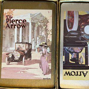Congress Playing Cards, Pierce Arrow  Car Design, Red Velvet Box